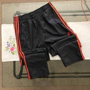 Adidas Three-Striped Orange Grey Jogger Pants